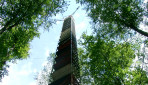 Eddy-Covariance tower at Wetzstein (image provided by MPI BGC Jena)