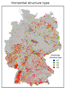 Fischer et al 2019, Horizontal Structure of Forests in Germany